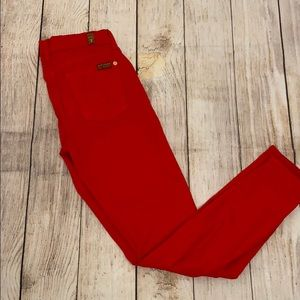 7 for All Man Kind RED worn once jean ❤️